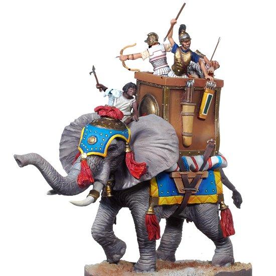 Os cartagineses usavam elefantes nas batalhas.